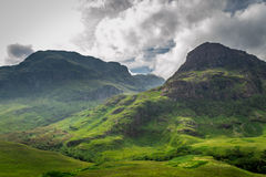 Mountain view in Scotland. In the summer Royalty Free Stock Images