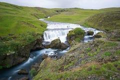 Mountain view of Skogarfoss waterfall, Iceland. Stock Photo