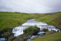 Mountain view of Skogarfoss waterfall, Iceland. Stock Photography
