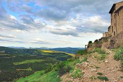 Mountain view. Small town Ares in Spain. Royalty Free Stock Photography
