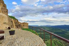 Mountain view. Small town Ares in Spain. Royalty Free Stock Photos