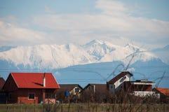 Mountain view snow Royalty Free Stock Photos