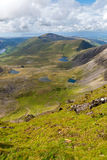 Mountain view from Snowdon Royalty Free Stock Image