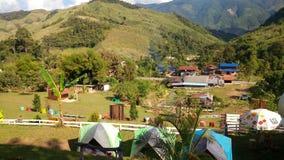 Mountain view songmeung camping picnic. At nan Thailand Stock Photo