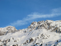 Mountain view St Anton. St Anton mountain panorama in Winter Stock Photography