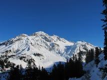 Mountain view St Anton. St Anton mountain panorama in Winter Stock Photos