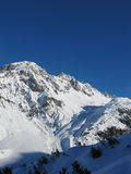 Mountain view St Anton. St Anton mountain panorama in Winter Royalty Free Stock Images
