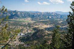 Mountain View Stanley hotel w Estes parku - Kolorado obrazy royalty free