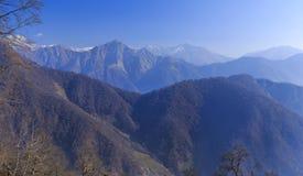 Mountain View stora Kaukasus berg Tufandag Gabala Azerbaija Arkivfoto