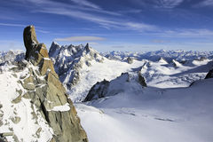 Mountain View suisses d'Alpes photographie stock