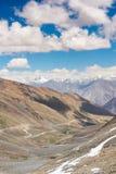 Mountain View sulla strada alla valle di Nubra, India Fotografia Stock Libera da Diritti