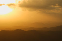 Mountain view sunset Royalty Free Stock Photography
