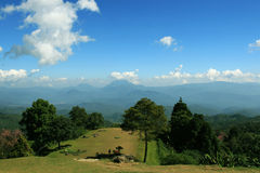 Mountain view in Thailand. Mountain view in North of Thailand Royalty Free Stock Image