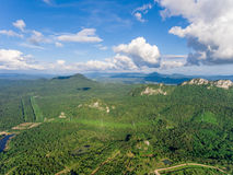 Mountain View in Thiland. Aerial View Royalty Free Stock Images