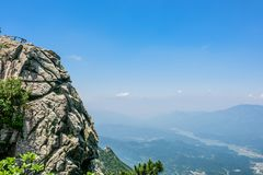 Mountain View of Tian TangZhai Scenic Spot Royalty Free Stock Photos