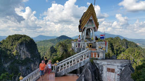 Mountain view from the Tiger Cave Temple, Thailand stock photography