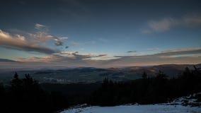 Mountain view (time-lapse) stock video footage