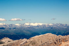 Mountain view. View from Tofane showing surrounding tops and ridges, Italy Stock Photos