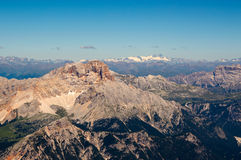 Mountain view. View from Tofane showing surrounding tops and ridges, Italy Royalty Free Stock Photo