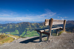 Mountain view from the top - Alpbach valley, Austria. Royalty Free Stock Images
