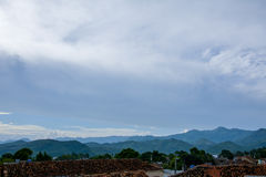 Mountain view of Trinidad, Cuba. General view from the top of Trinidad church to the valley stock photos