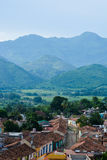 Mountain view of Trinidad, Cuba. General view from the top of Trinidad church to the valley stock images