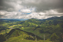 Mountain View Under Cloudy Skies during Daytime Royalty Free Stock Photography