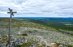 Mountain view V. Mountain landscape in Lapland Finland Royalty Free Stock Photo