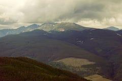 Mountain View in Vail, Colorado genommen von einem Eagles-Nest Lizenzfreies Stockbild