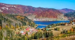 Mountain View van Dedinky-dorp, Palcmanska Masa stock foto's