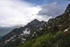 Mountain View verde dos cumes foto de stock royalty free