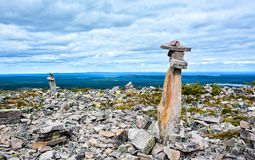 Mountain view VI. Mountain landscape in Lapland Finland Stock Images