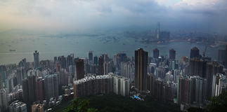Mountain view of Victoria harbour Hong Kong Royalty Free Stock Photo