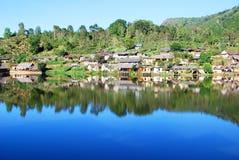 Mountain view village Royalty Free Stock Image
