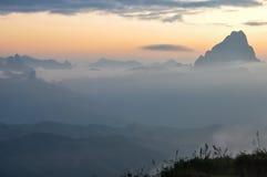 Mountain View w Północnym Laos, Luang Prabang Zdjęcie Royalty Free