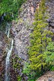 Mountain view of waterfall. Mountain view of Holy mountain (Pyhätunturi in finnish) waterfall in Lapland Finland Royalty Free Stock Photo