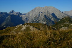 Mountain view of watzmann mountain, bavaria Stock Image