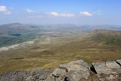 Mountain view Whernside from Ingleborough Royalty Free Stock Photos