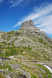 Mountain with viewing balcony. Trollstigen. Stock Photo