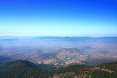 Mountain viewpoint of Kew Mae Pan scenery at Doi Inthanon national park , Chiang Mai , Thailand.  Stock Photos