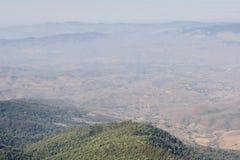 Mountain viewpoint of Kew Mae Pan scenery at Doi Inthanon national park , Chiang Mai , Thailand.  Stock Photography