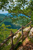 Mountain viewpoint landscape summer Royalty Free Stock Photo