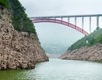 Mountain views and a bridge Stock Photo