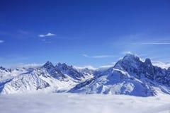 Mountain views in Chamonix royalty free stock image