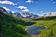 Mountain Views Kananaskis Alberta Canada Stock Images