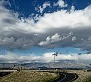 Mountain Views. Roads coachella coachellavalley clouds royalty free stock photo