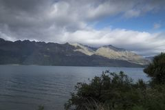 Mountain views, streams and lakes of New Zealand d.y. Mountain views, streams and lakes and plants of New Zealand d.y Stock Photos
