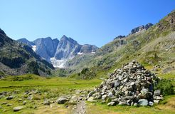 Mountain Vignemale in the national park Pyrenees.France. Royalty Free Stock Image