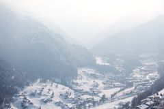 Mountain vilage Royalty Free Stock Images