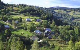 Mountain village. Village in Apuseni Mountains from Transylvania,Romania Stock Photo